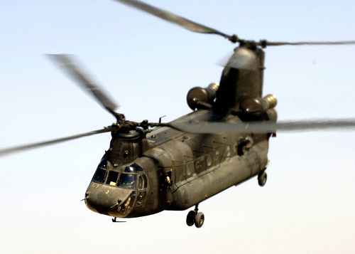 A Chinook CH-47D, similar to those acquired by the Canadian military from the U.S. Army