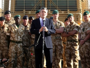 British PM Gordon Brown stated that the UK's committment to Afghanistan was dependent on Karzai's reforms on corruption (AAP)