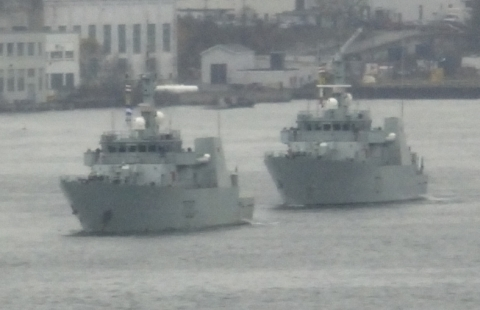 Two of Canada's 12 Maritime Coastal Defence Vessels