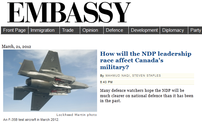Embassy Front Page