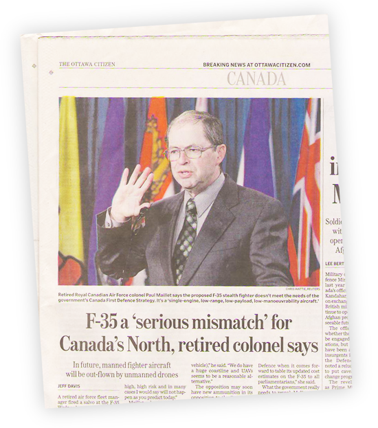 Col. Paul Maillet (ret) In the Ottawa Citizen
