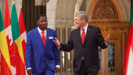 "No ""direct military mission""? Following a meeting with Benin president and African Union chairperson Boni Yayi, Prime Minister Harper declared that Canada is not considering direct intervention in Mali."