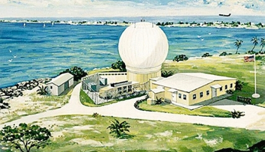 Palm trees in Goose Bay? This artist's impression of an X-band radar accompanied the recent Ottawa Citizen article on the proposal to deploy a missile-defence radar in Canada.