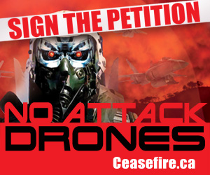 No Attack Drones - Sign the petition