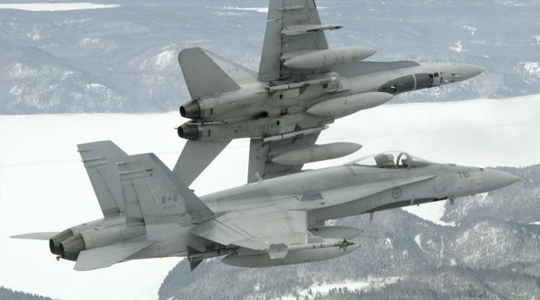 Canadian CF-18 fighter-bombers