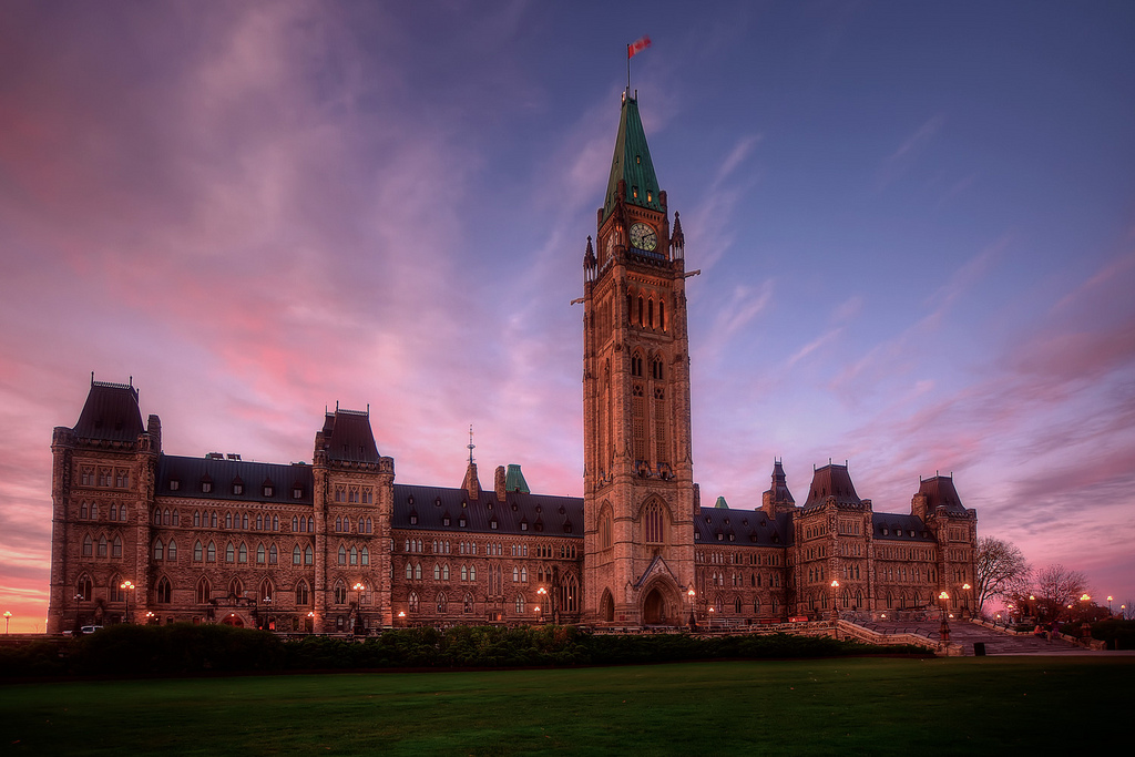 Peace Tower Pink Sky