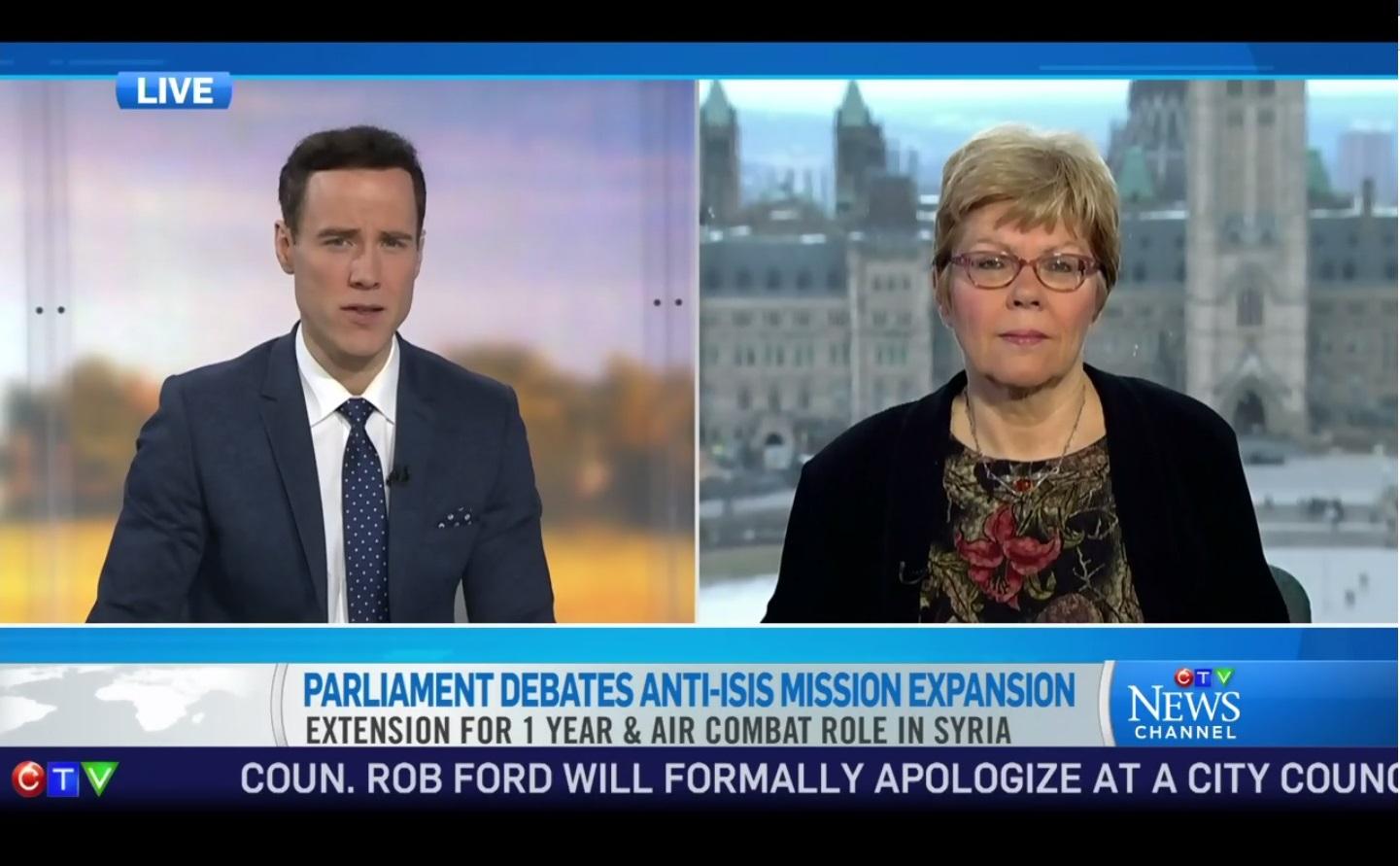 Peggy-Todd Van Der Heyden CTV interview March, 26 2015