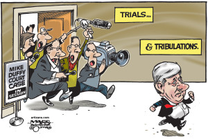 Harper Running from Duffy Trial