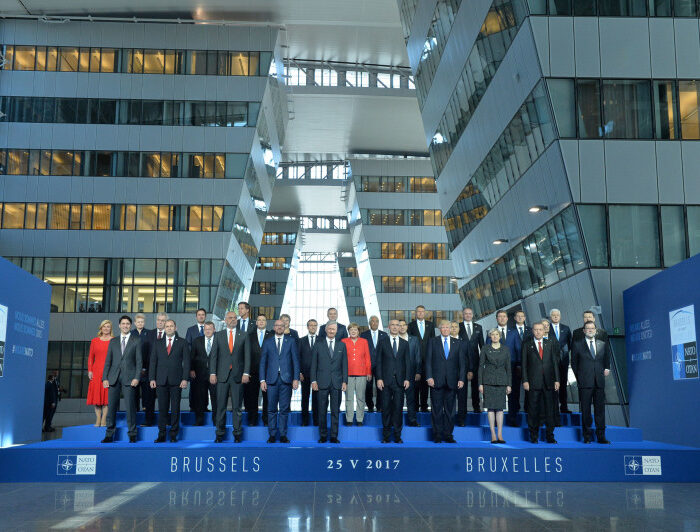 Family portrait of NATO Heads of State and Government - Meeting of NATO Heads of State and Government in Brussels