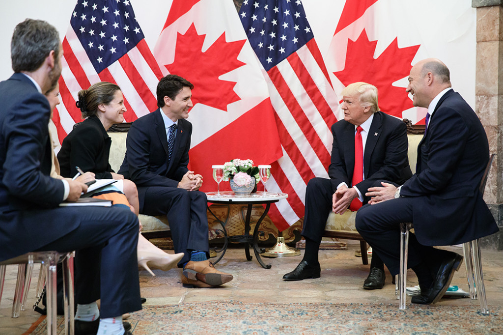 Trudeau, Freeland and Trump